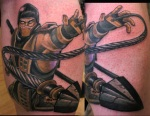 1. SCORPION FROM MORTAL KOMBAT... mortal kombat scorpion dagger ninja tattoo Beto Munoz Monkeyproink.com_