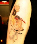 ryu tattoo street fighter