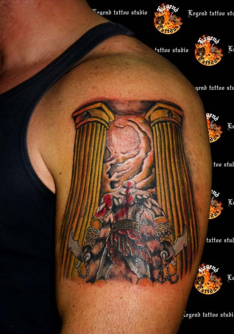 Kratos God War Tattoos Tattoo Especial God of War